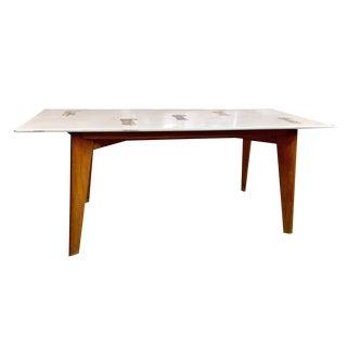 Circa 1950s Mid-Century Modern Pietra Dura Coffee Table