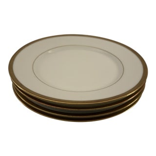 Early 20th Century Antique C. Ahrenfeldt Limoges Bread Plates - Set of 4 For Sale