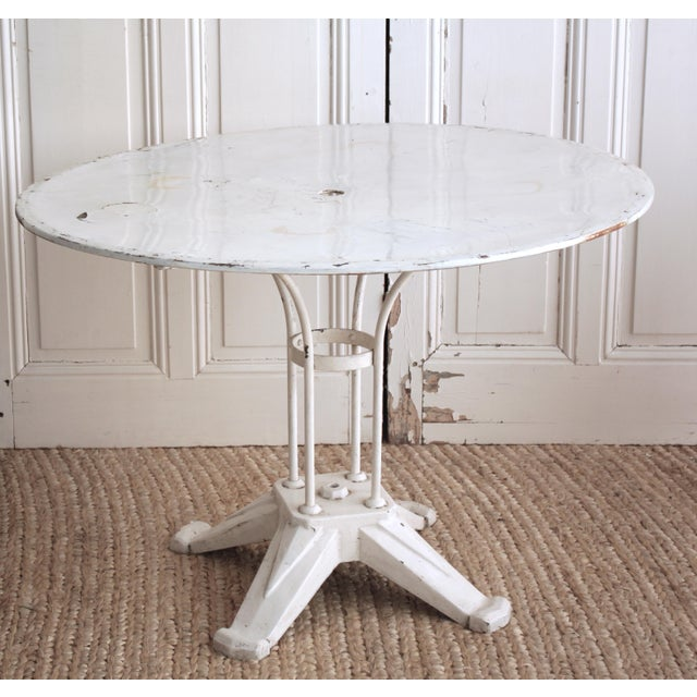 Vintage Cast Iron Bistro Table - Image 2 of 7