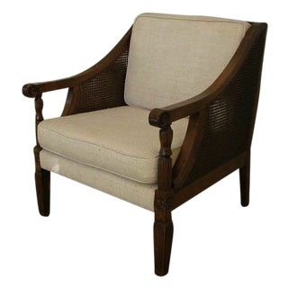 Grand Double Cane Arm Chair