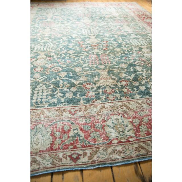"""Textile Vintage Distressed Tabriz Carpet - 8'1"""" X 11'4"""" For Sale - Image 7 of 13"""