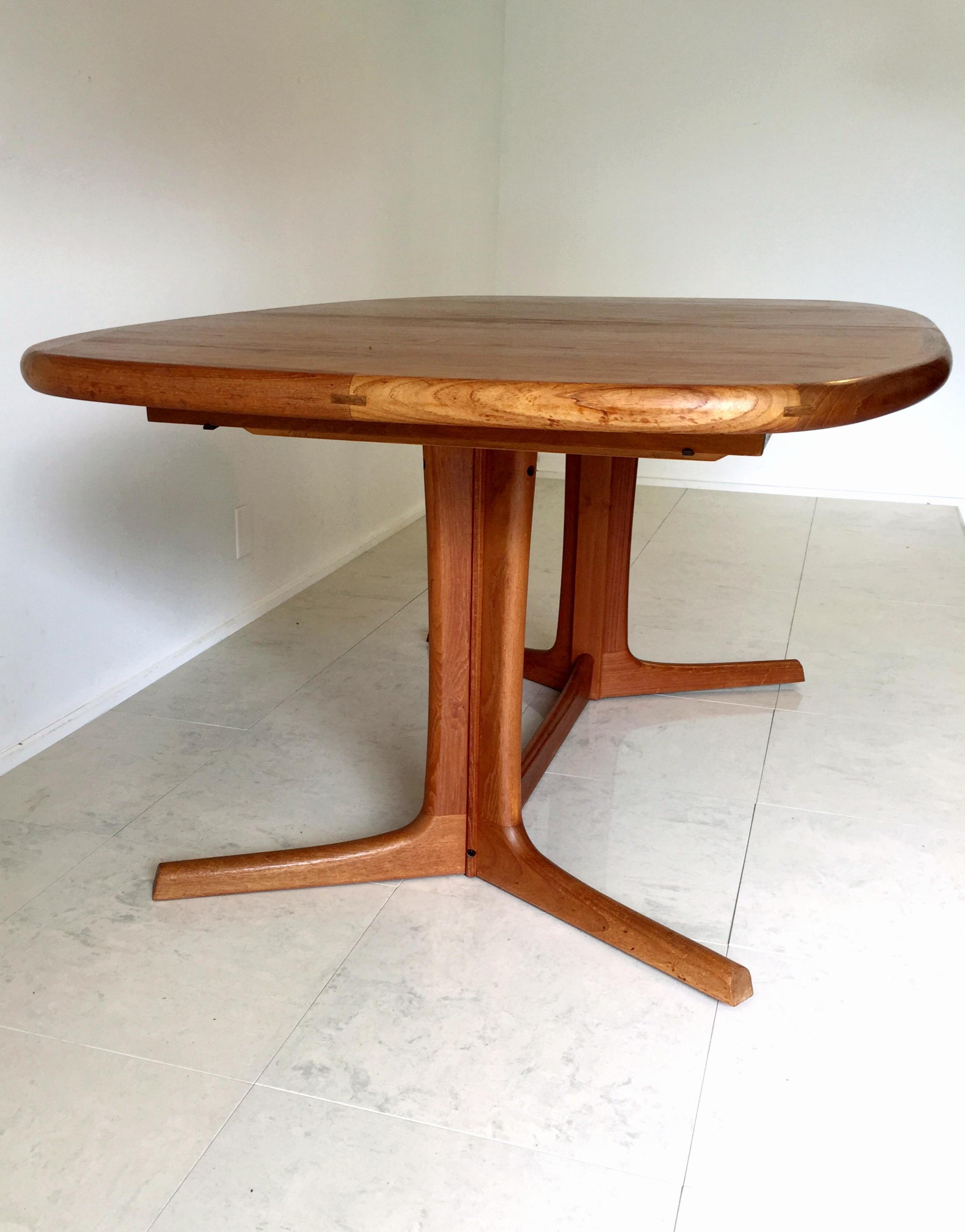 Delicieux Vintage Danish Dyrlund Teak Dining Table   Image 6 Of 8