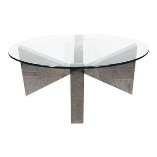 """Cityscape"" Cocktail Table in Patchwork Polished Chrome Documented by Paul Evans"