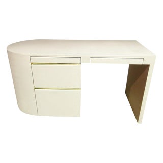 Karl Springer Style Writing Desk For Sale