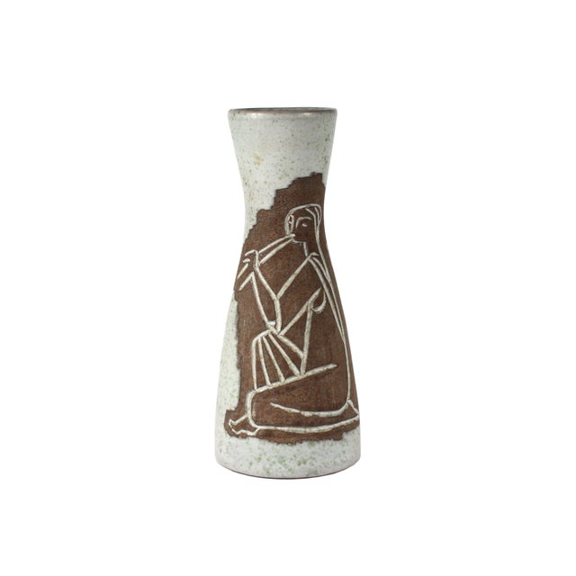 Philippe Lambercy Mid-Century Swiss Cubist Style Flute Player Vase For Sale - Image 9 of 9