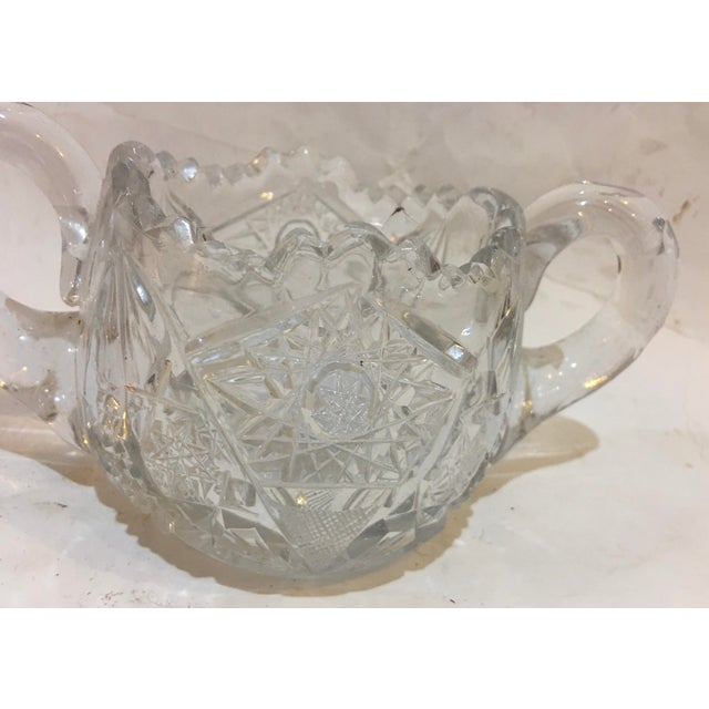 1950s Mid-Century Cut Glass Sugar Bowl For Sale - Image 5 of 11
