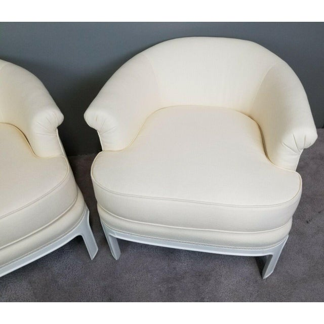 Textile Hollywood Regency Tomlinson Club Chairs - a Pair For Sale - Image 7 of 12