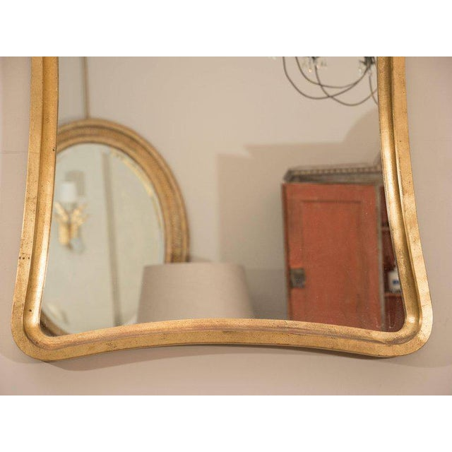 Italian Pair of Giltwood Wavy Mirrors For Sale - Image 3 of 6