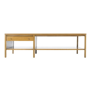 Paul McCobb Leather Top Coffee Table For Sale