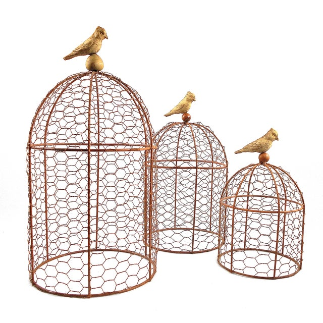 Decorative Wire Garden Cloches - Set of Three - Image 1 of 4