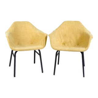 Vintage Eames Icon Molded Fiberglass Chairs - a Pair For Sale