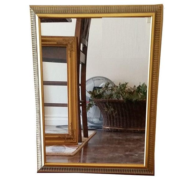 Vintage Gold Painted Wood Framed Mirror - Image 2 of 5