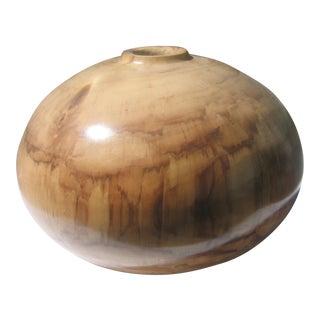 Turned Cottonwood Vase For Sale