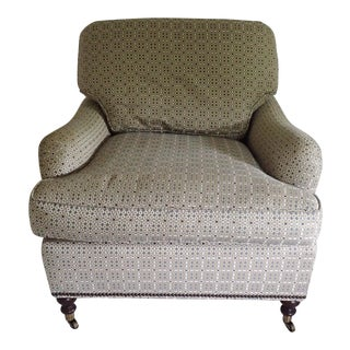 Baker Club Chair Re-Upholstered (10yrs) English Country Slope ArmDown Cushion Library Chair Excellent