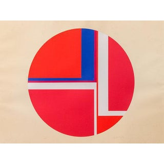1970s Red Tondo Print by Ilya Bolotowsky For Sale