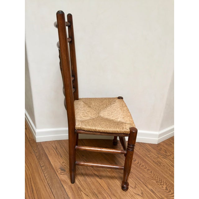Americana 19th Century Americana Side Chair With Rush Seat For Sale - Image 3 of 10