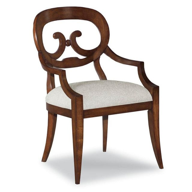 Traditional Modern Brown Arm Chair For Sale - Image 3 of 3