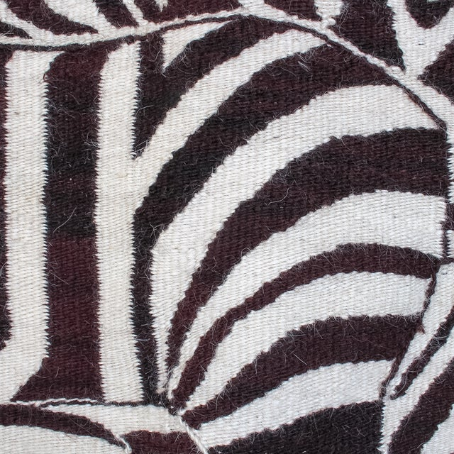 Large African Mohair Zebra Wall Hanging - Image 6 of 11