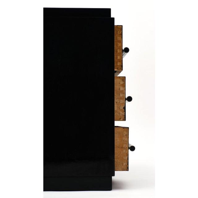 Black French Art Deco Period Ebonized Desk For Sale - Image 8 of 10