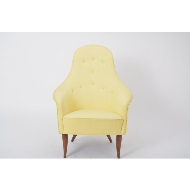 Large Adam' Reupholstered Lounge Chair With Ottoman by Kerstin Hörlin-Holmquist For Sale - Image 9 of 12