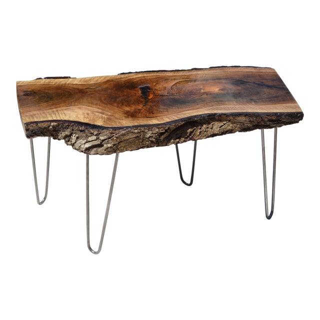 Live Edge Walnut Table - Image 1 of 7
