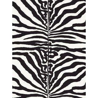 Scalamandre Zebra, Black Fabric For Sale