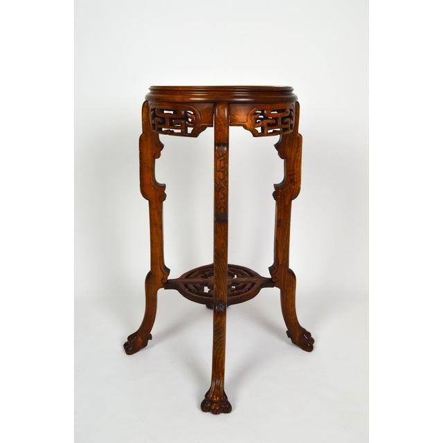 Asian Japonisme Pedestal Table / Pot Stand For Sale - Image 3 of 13