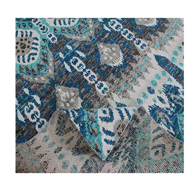 "Boho Chic 1990s Ikat Area Rug - 8'0"" X 10'0"" For Sale - Image 3 of 6"