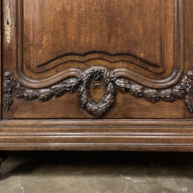 19th Century French Louis XVI Marble Top Display Buffet For Sale - Image 9 of 12