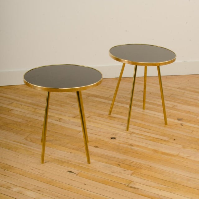 Metal Italian Modern Brass Occasional Tables - a Pair For Sale - Image 7 of 12