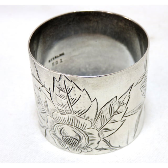 19th Century Antique Sterling Silver Napkin Ring For Sale - Image 4 of 5