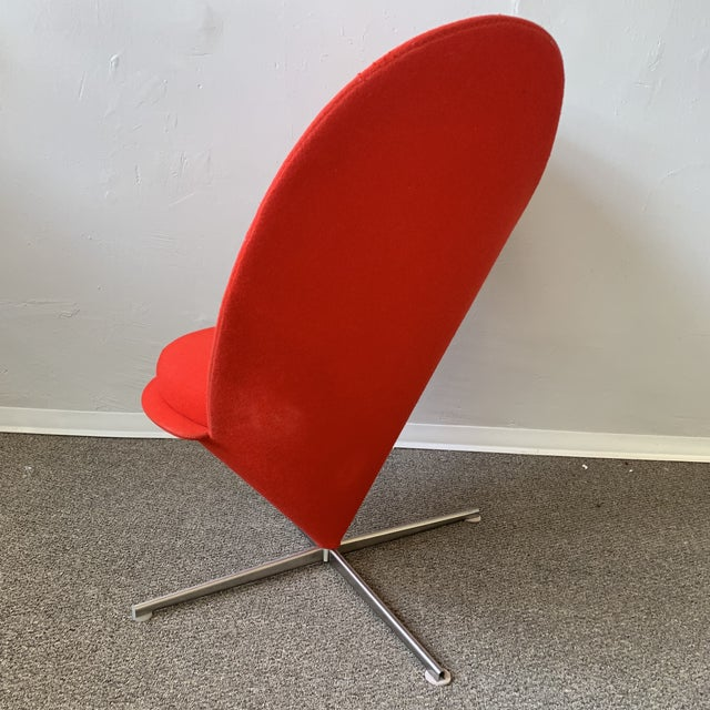 Modern 1960s Vintage Verner Panton Heart Chair For Sale - Image 3 of 7