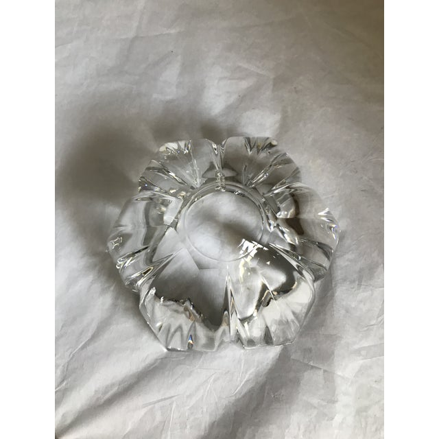 Vintage Heavy Thick Crystal Lotus Flower Candy/Dish For Sale In Palm Springs - Image 6 of 9