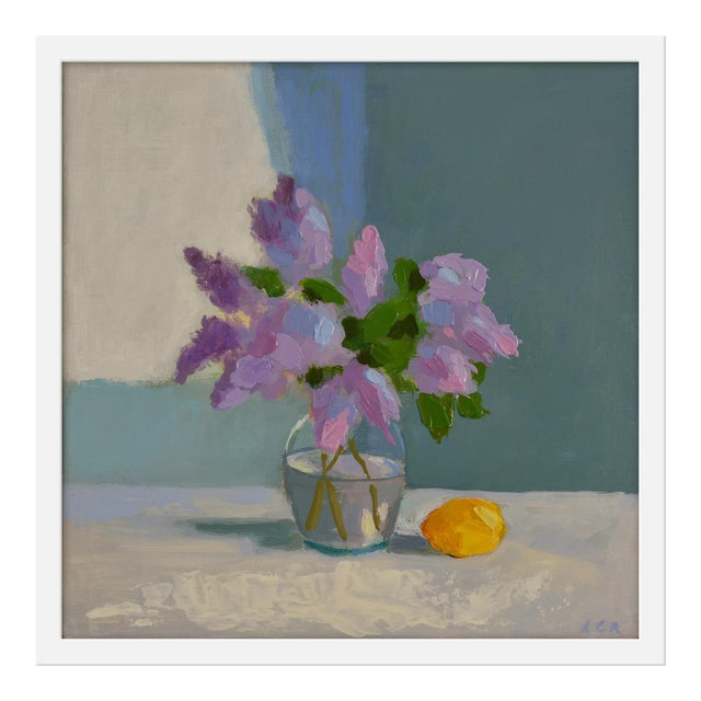 "Small ""Lilac With Lemon"" Print by Anne Carrozza Remick, 20"" X 20"" For Sale"