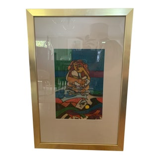 "1970s Modern ""Mother and Child"" Art by Canto For Sale"