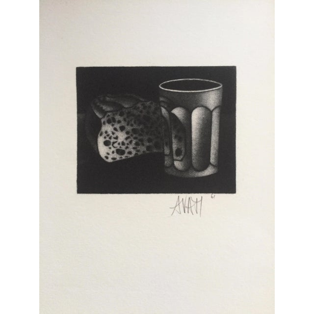 Contemporary 1961 Bread and Water Mario Avati Mezzotint Still Life For Sale - Image 3 of 4