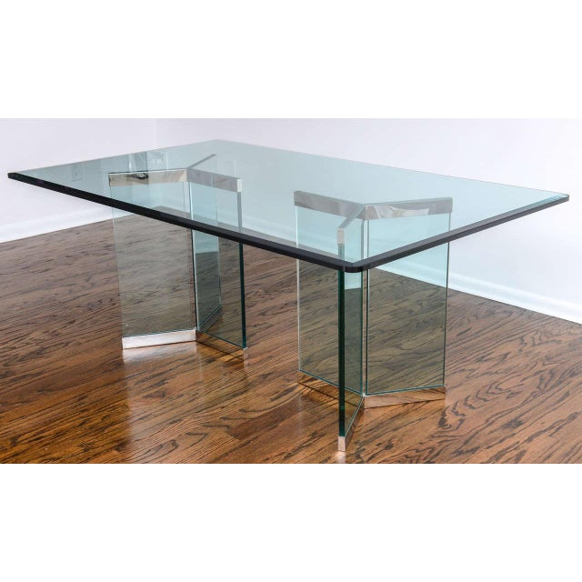 This dining table was designed by Leon Rosen for the Pace Furniture collection in the 1970s. With its clean-lined design...