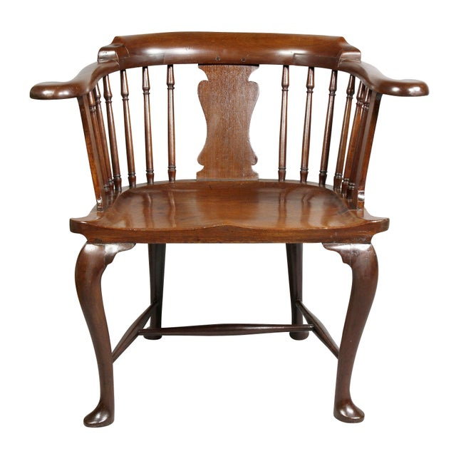 Traditional George III Mahogany Captains Armchair For Sale - Image 3 of 10