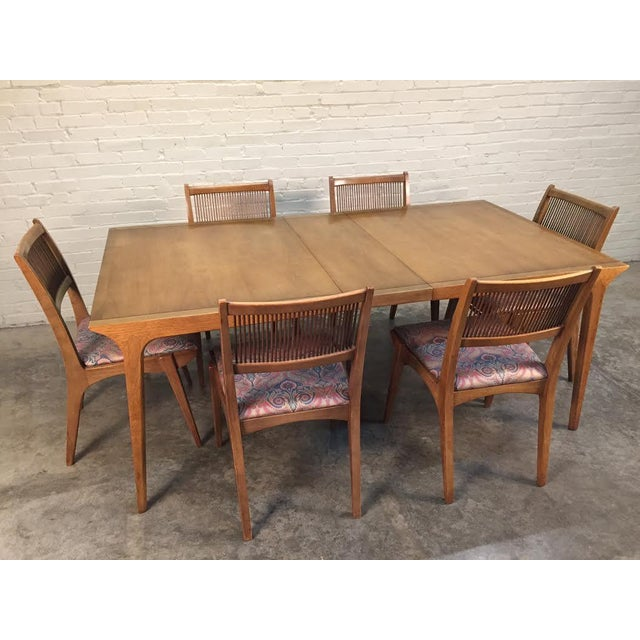 John Van Koert for Drexel Dining Set With Six Chairs - Image 4 of 11