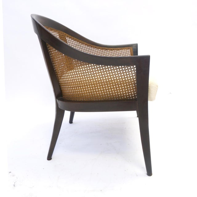 1960s Stunning Harvey Probber Cane and Mahogany Occasional Armchair For Sale - Image 5 of 5