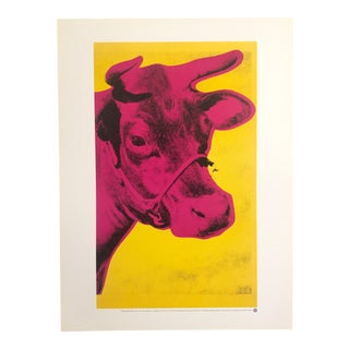 """Andy Warhol Foundation Rare Vintage 1989 Offset Lithograph Print Pop Art Poster """"Pink Cow"""" 1966"""