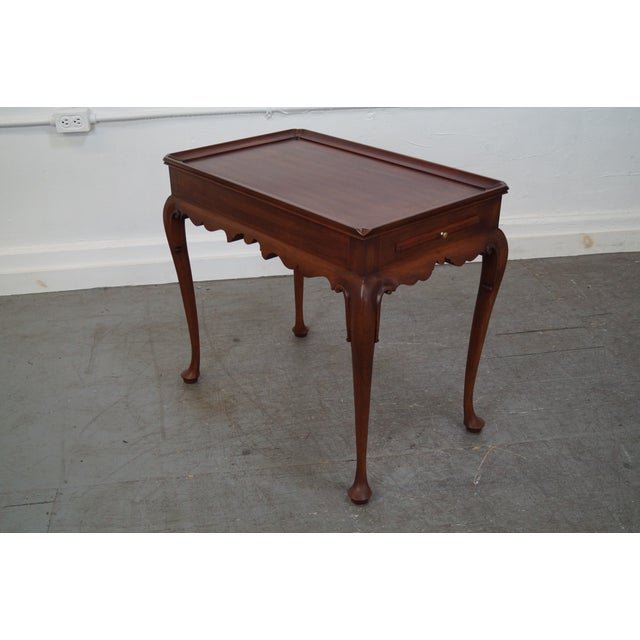 Henkel Harris Solid Cherry Queen Anne Tea Table - Image 3 of 10