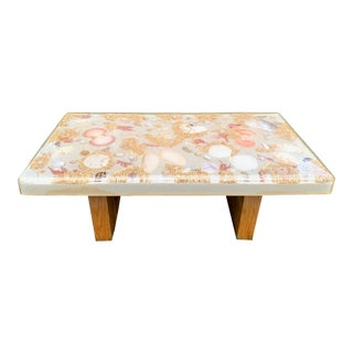 Mid Century French Lucite Shell Table For Sale