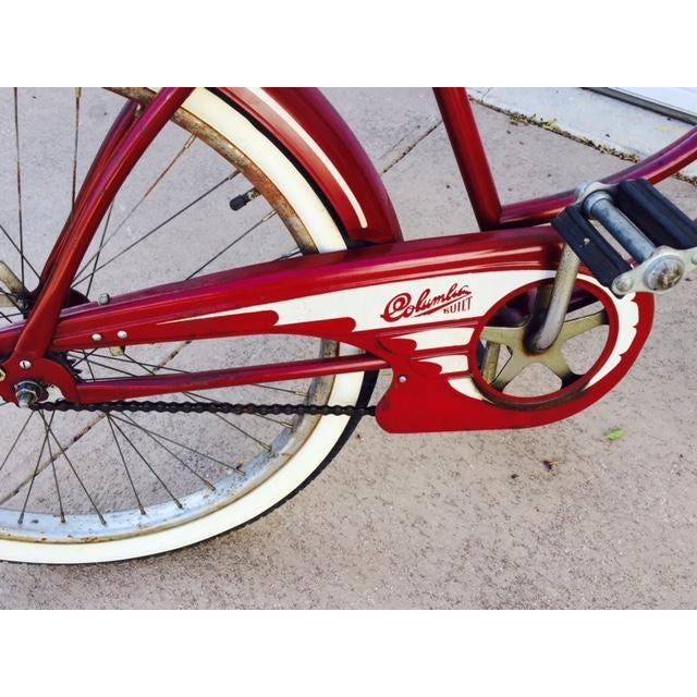 Burgundy, White 1950's Columbia Built Cruiser Bike - Image 4 of 10