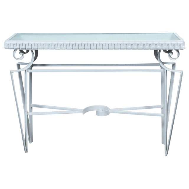 Dorothy Draper Style Wrought Iron Console For Sale - Image 11 of 11