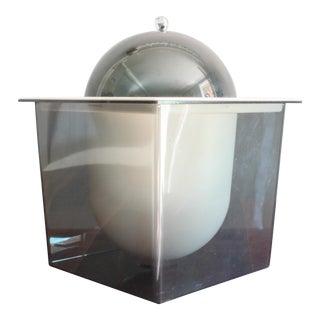 1960s Atomic Mid Century Modern Smoked Plexi 3-Piece Ice Bucket For Sale
