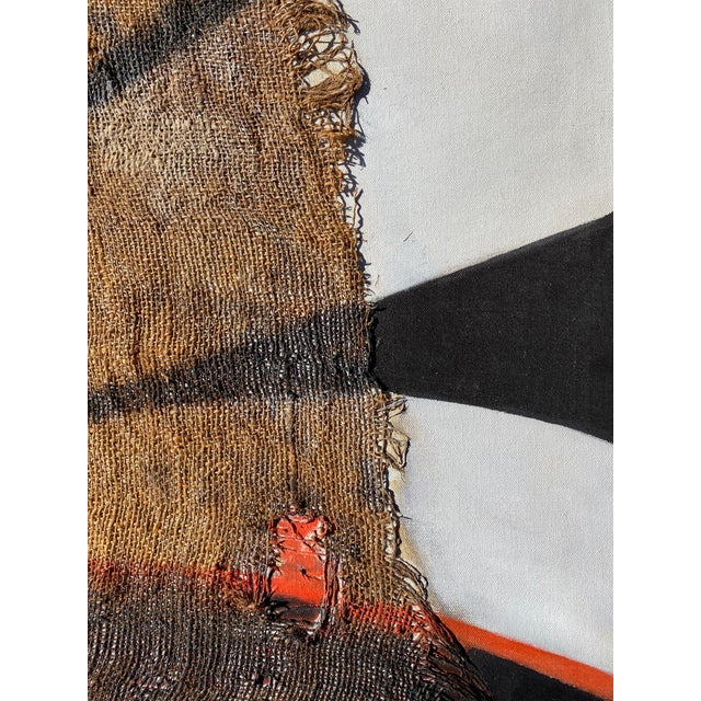 1970s Abstract Mixed-Media on Canvas by Founder of Torpedo Factory For Sale - Image 5 of 7