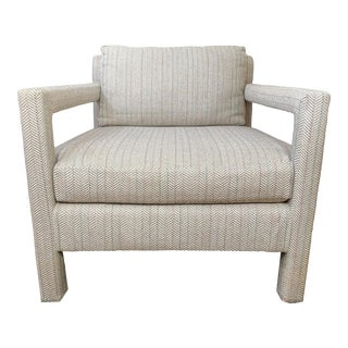 1970's Milo Baughman Parsons Chair For Sale