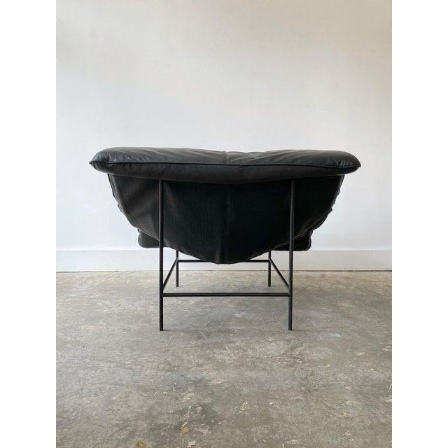 Gerard Van Den Berg 1980s Gerard Van Den Berg Black Leather Butterfly Chair For Sale - Image 4 of 11