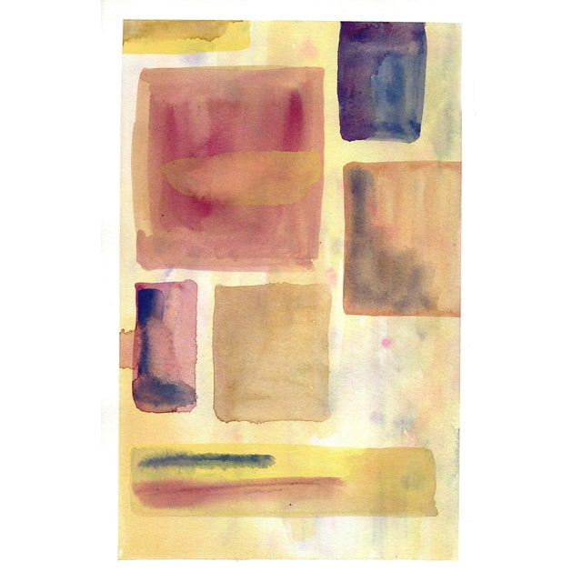 """""""Dusty Squares"""" Original Abstract Painting - Image 1 of 2"""